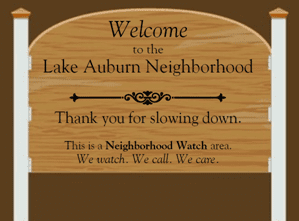 Neighborhood Watch group to meet to Discuss THE BUMPY ROAD !!!